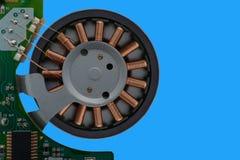 Winding brushless motor stock image