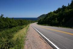 Winding Cabot Trail. Cabot Trail. Cape Breton Highlands National Park. Nova Scotia. Canada Stock Photography