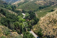 Winding Canyon Road in Southern California Royalty Free Stock Photos
