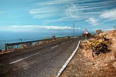 Winding coastal road Royalty Free Stock Photo