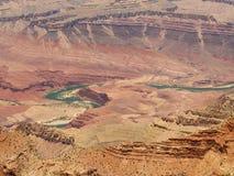Winding Colorado. Colorado River winding thru the Grand Canyon, seen from Lipan Point stock photos