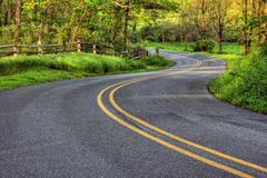 Winding Country Road. In Southeastern Pennsylvania royalty free stock images