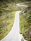 Winding country road. Winding road at the grossglockner in austria Royalty Free Stock Image