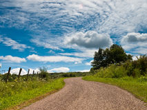 Winding Country Road Royalty Free Stock Photography