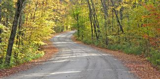 Winding country road Stock Photography