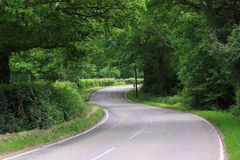 Winding country road England stock photo