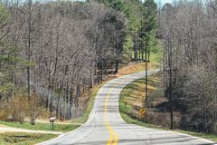 Winding Country Road in Georgia royalty free stock images