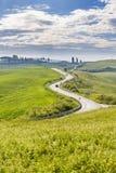 Winding country road in rural Italian Stock Image