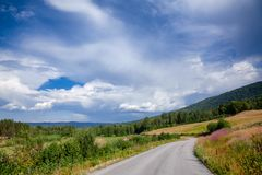 Winding country road in Telemark Southern Norway Stock Image