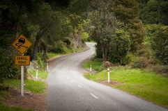 Winding country road Stock Images