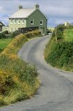 Winding country road in West Cork, Ireland Royalty Free Stock Photography