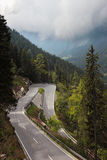 Winding and dangerous mountain road Royalty Free Stock Image