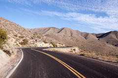 Winding desert highway Royalty Free Stock Image