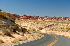 Winding desert highway Stock Photo