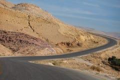 Desert road in Jordan Stock Image