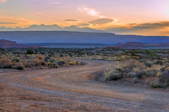 Winding desert road in southern Utah. Stock Image