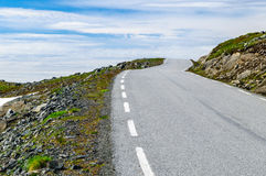 Winding desert road to heaven in Norway. Winding desert 55 road to heaven in Norway Stock Photos