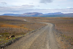 Winding dirt road in Iceland Royalty Free Stock Photography