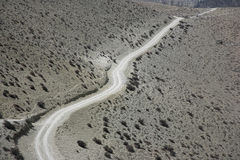 Winding dirt track on Annapurna Royalty Free Stock Images