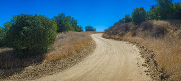 Winding Dirt Wilderness Road Royalty Free Stock Photos