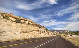 Winding empty road, travel concept picture Royalty Free Stock Photo