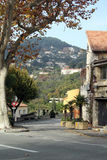 Winding Fall Road, Eze France Royalty Free Stock Photography
