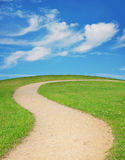 Winding footpath Royalty Free Stock Photography