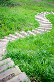 Winding Footpath Downhill Royalty Free Stock Photo