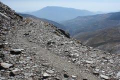 Winding footpath in Sierra Nevada National Park Royalty Free Stock Photo