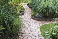 Winding garden pathways Stock Photography