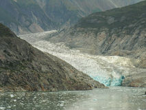 Winding Glacier, Inside Passage, Alaska. Glaciers are a familar sight along the Inside Passage in Alaska Royalty Free Stock Photos