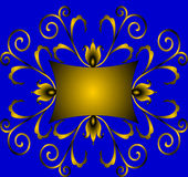 Winding gold(en) ornament with colour Stock Images