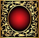 Winding gold  pattern frame Stock Image