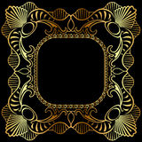 Winding gold pattern frame Royalty Free Stock Photos