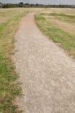 Winding gravel footpath Stock Photo