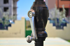 Winding handle of umbrella Royalty Free Stock Photography