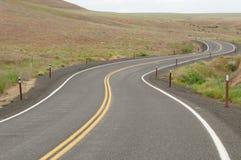 Winding highway. In desert, washington state, usa royalty free stock photo