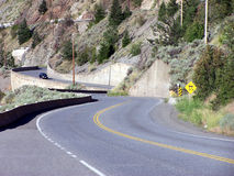 Winding Highway. A winding highway Royalty Free Stock Photos
