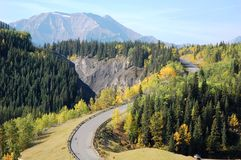 Winding highway Stock Images