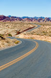 Winding highway in desert Royalty Free Stock Photo