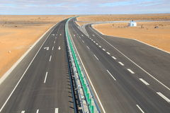 Winding Highway to Steppe. In Neimenggu, China Stock Photography
