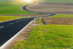 Winding long road Royalty Free Stock Image