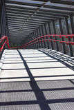 Winding Long Walking Bridge. This is a path to mt cootha garden, popular tourist destination in Brisbane, Australia royalty free stock image