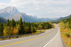 Winding mountain highway Stock Images