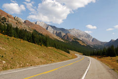 Winding mountain highway Stock Image