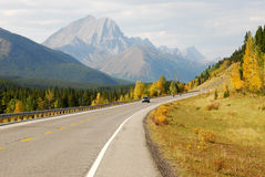 Winding mountain highway Royalty Free Stock Photo