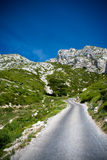 Winding mountain road. Near marseille Stock Photos