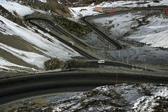 Winding Mountain Road. In the Andes Royalty Free Stock Photography