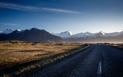 Winding mountain road, Iceland Stock Photos