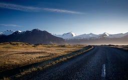 Winding mountain road, Iceland Stock Photos
